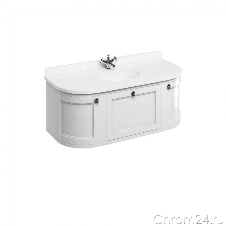 Wall Hung Curved Vanity Unit (Burlington)