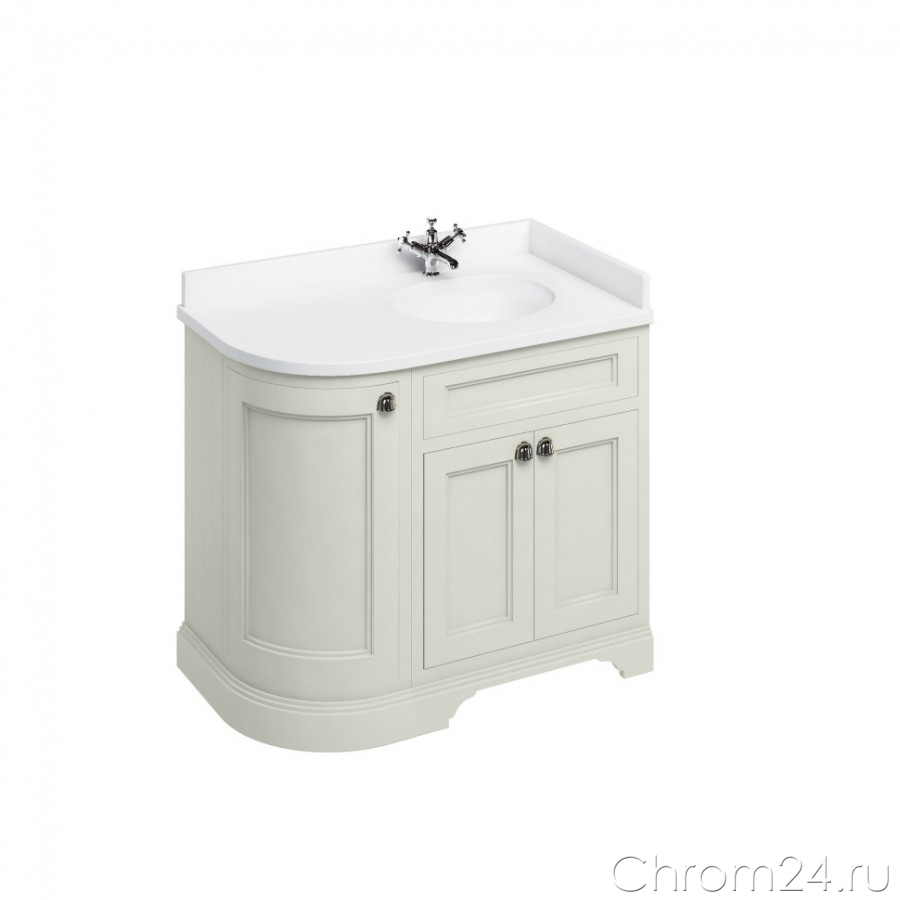 Freestanding Curved Corner Vanity Unit (Burlington)