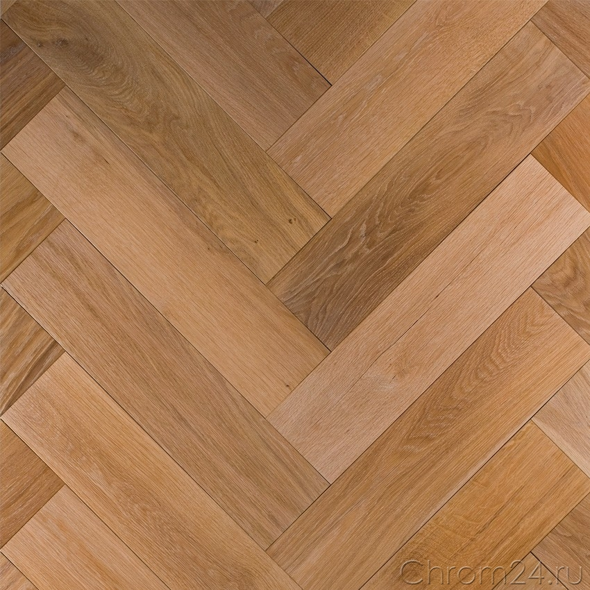 Oak Hardwax Oil White Herringbone Pattern (Marmotta)