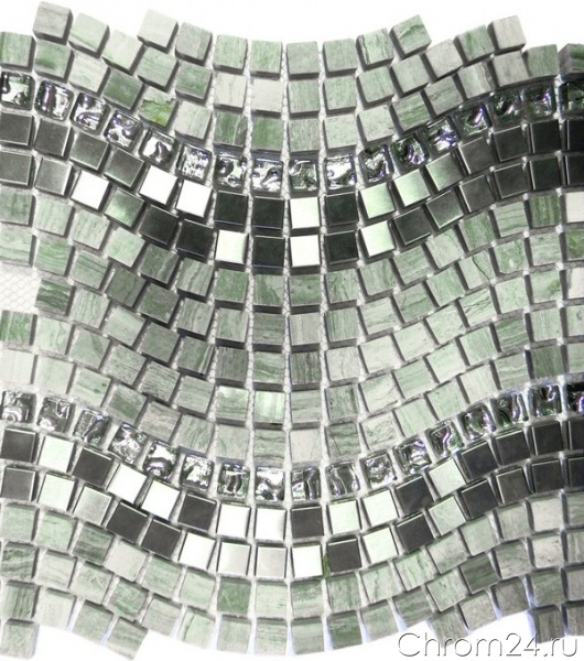 Wave Grey PT 127 (Bars Crystal Mosaic)